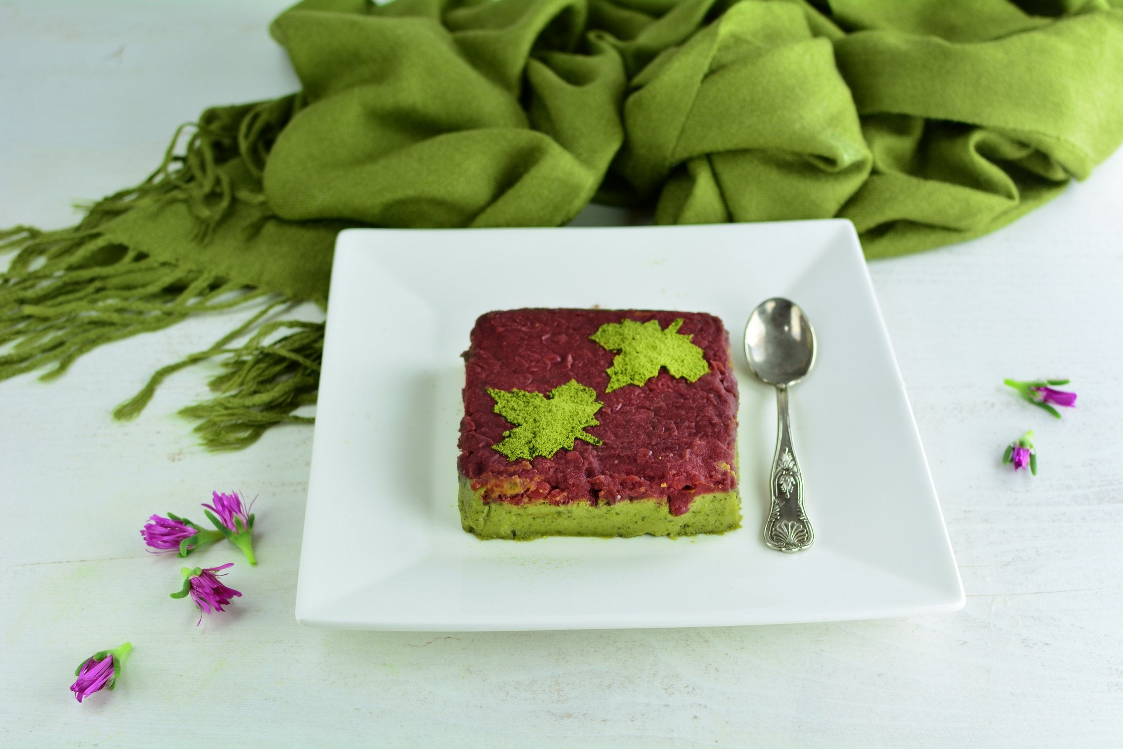 Matcha Adzuki Terrine with White Chocolate
