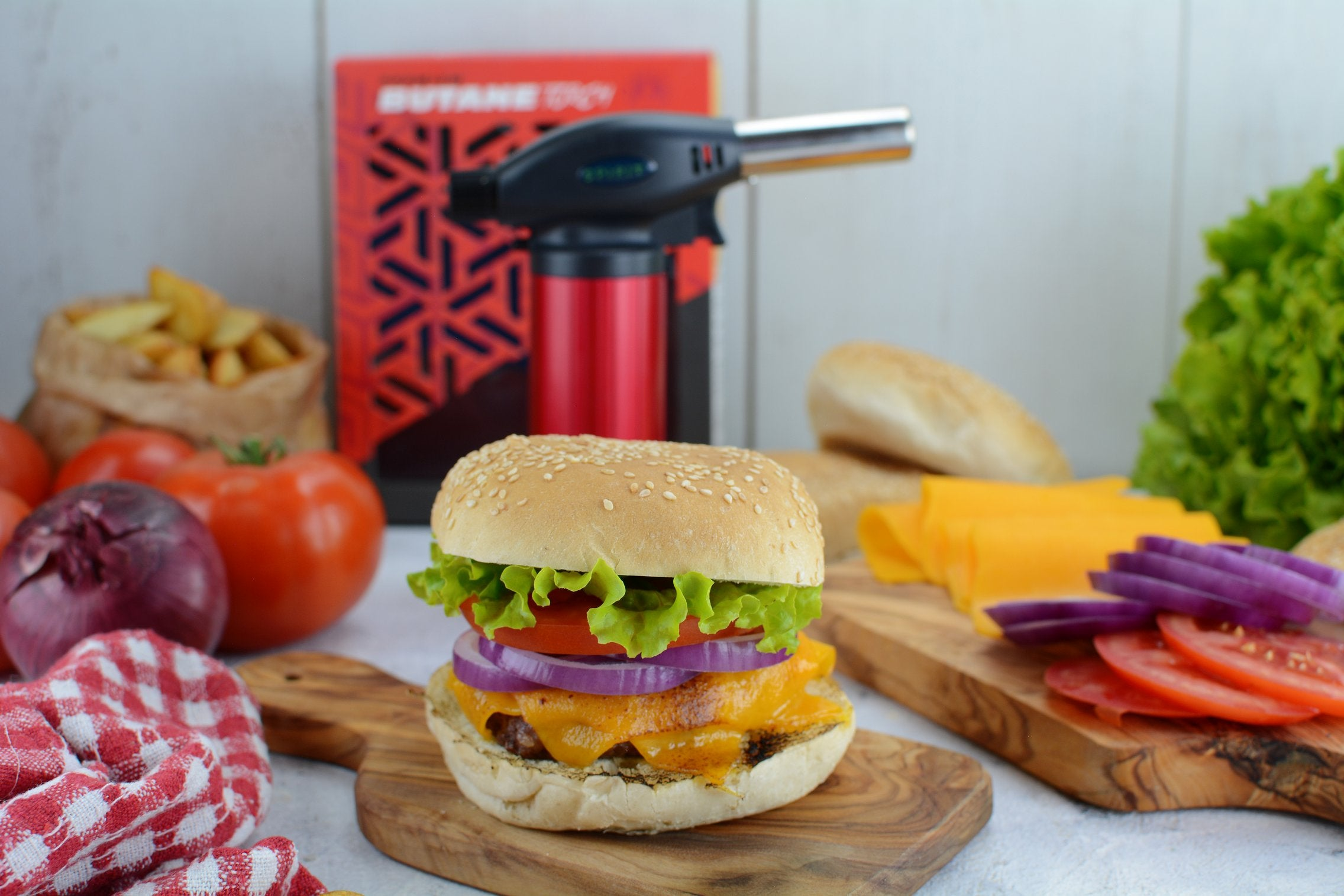 Classic Cheeseburgers with Torch