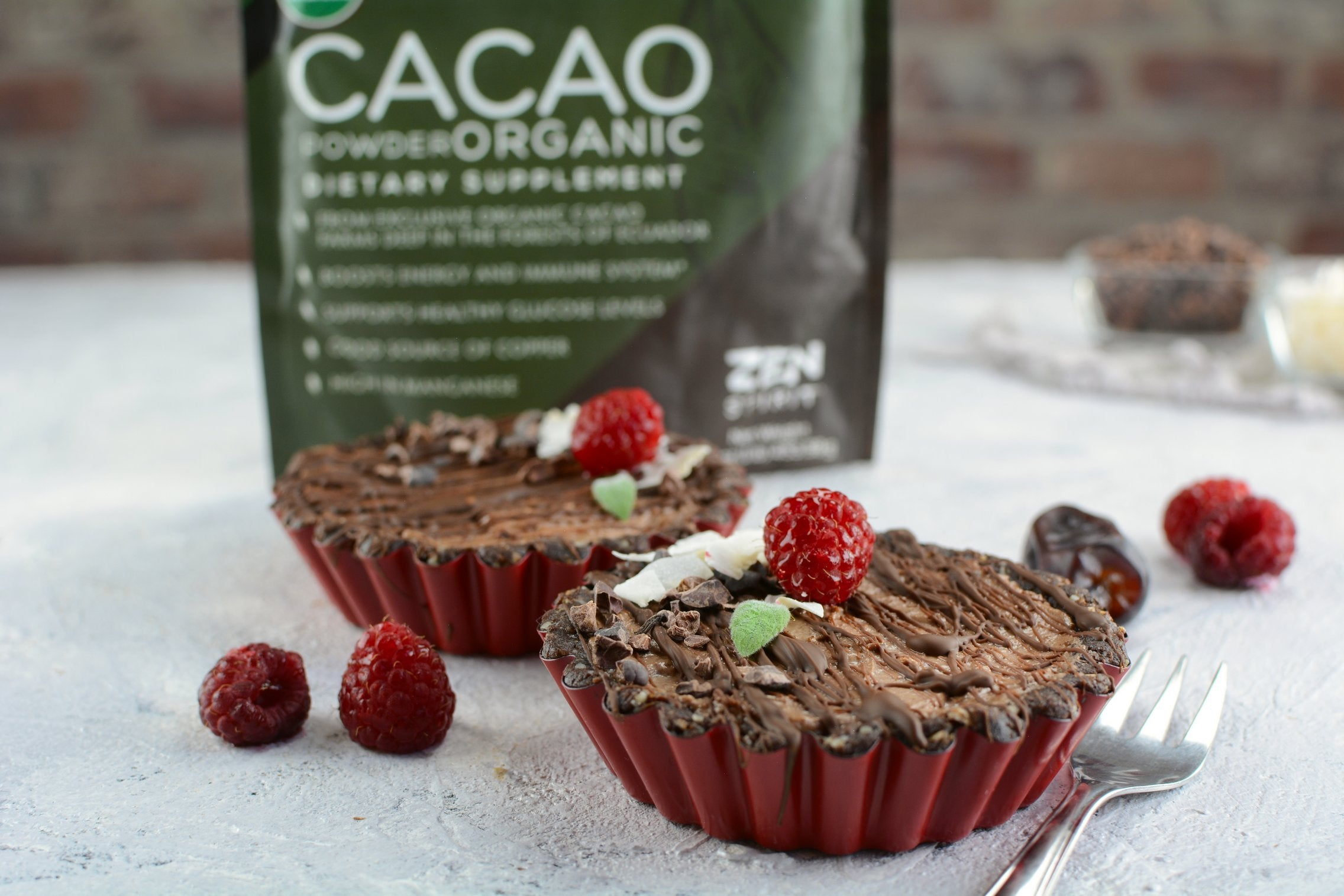 Cacao Tartlets with Oats and Walnuts