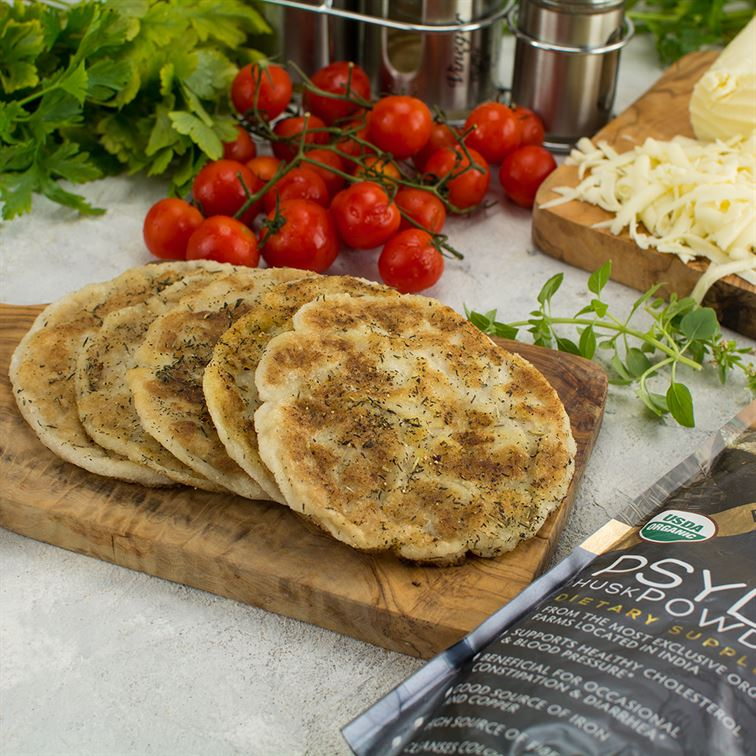 Gluten-free, Low-carb and Vegan Flatbread