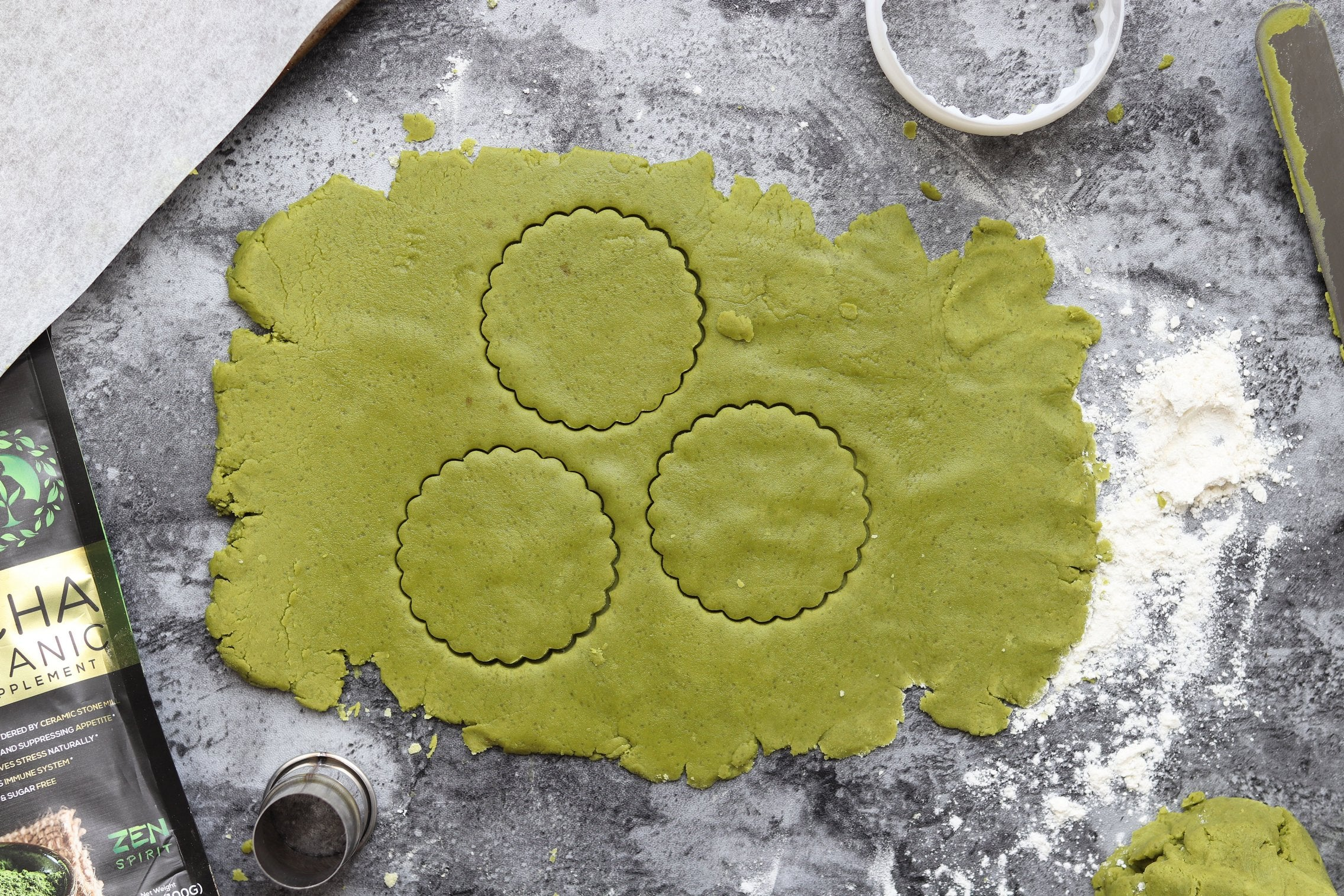 Matcha Shortbread Cookies - Dought
