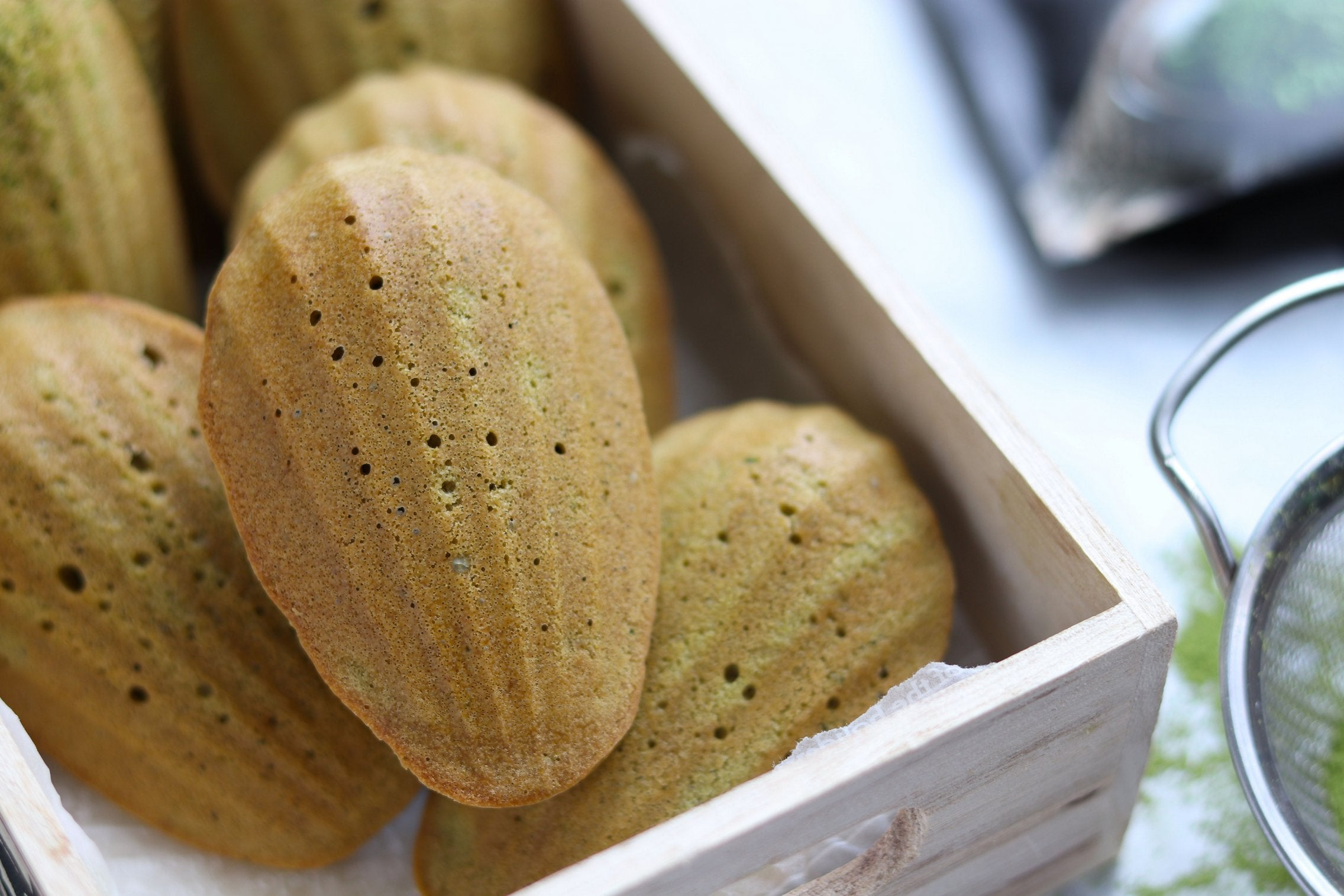 Vegan Matcha Madeleine with Applesauce