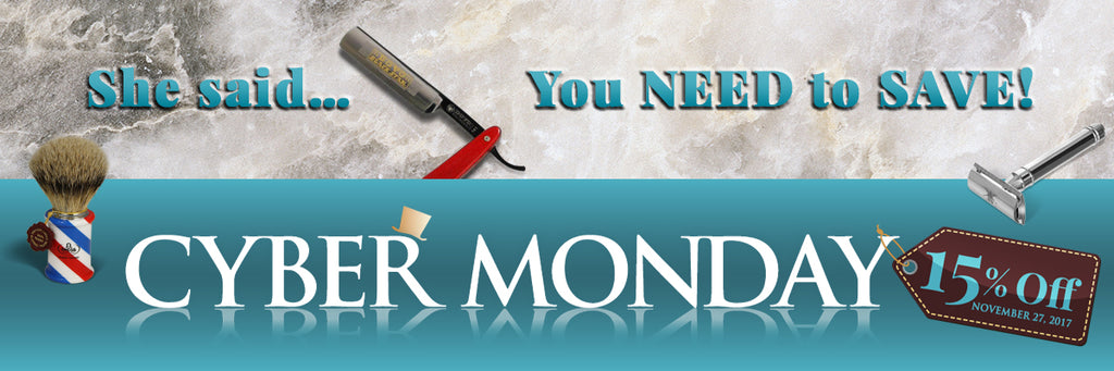 Cyber Monday at Straight Razor Designs