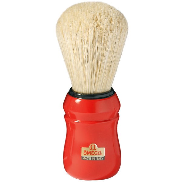 Omega 10049 Professional Boar Shaving Brush, Red Handle