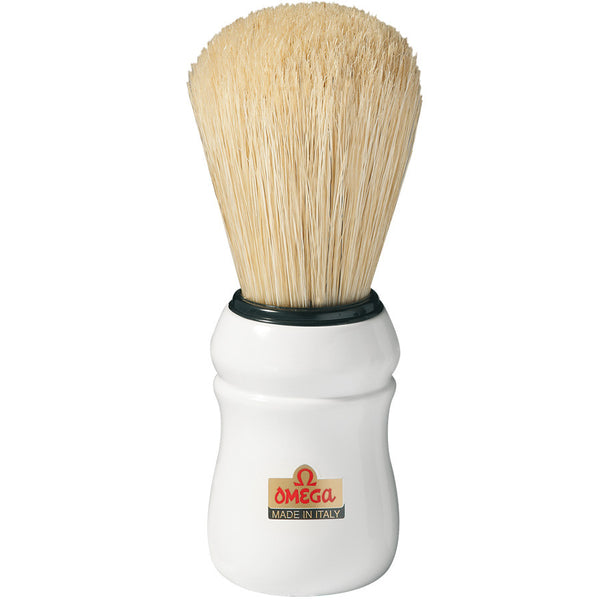 Omega 10049 Professional Boar Shaving Brush, White Handle