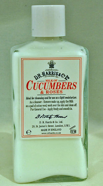 D.R. Harris Milk of Cucumber & Roses