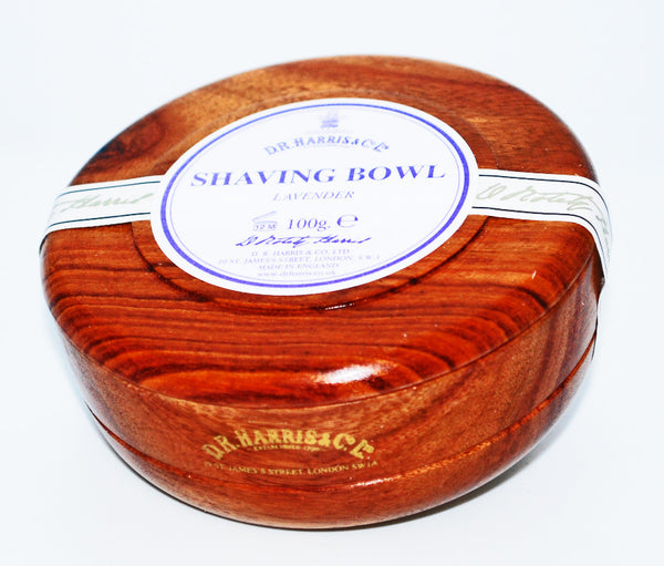 D.R. Harris Lavender Shave Soap in Mahogany  Bowl