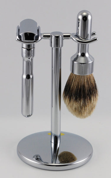 Merkur Polished Futur 3 Piece Razor Set