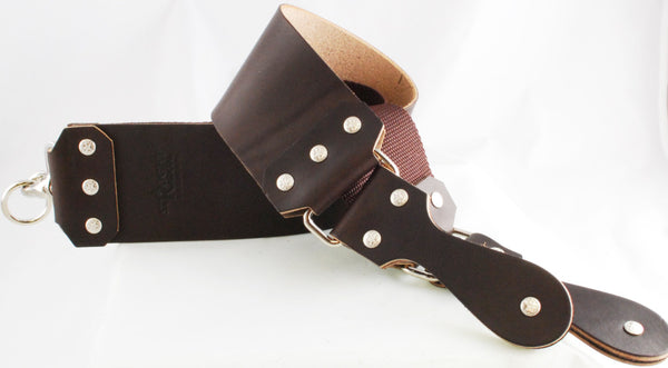 "Straight Razor Designs 3"" Premium IV (Long) English Bridle Strop"