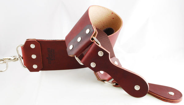 "Straight Razor Designs 3"" Red Latigo Strop with Leather Handle"