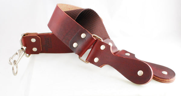 "Straight Razor Designs 2"" Red Latigo Strop with Leather Handle"
