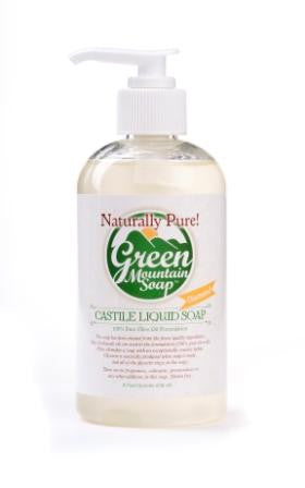 Green Mountain Soap Liquid Castile Olive Oil Pump Soap
