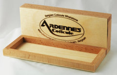 Belgium Stone 200mmx50mm Wood Storage Box - Straight Razor Designs