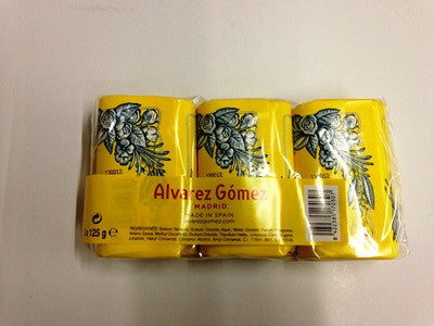 Alvarez Gomez Agua de Colonia Concentrada Soap Bar 3 Bars