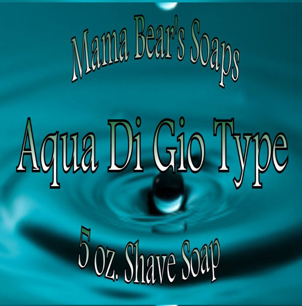 Mama Bear Glycerin Shaving Soap - Aqua Di Gio Type