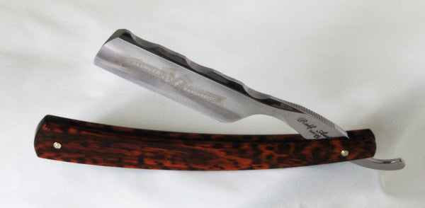 "Ralf Aust - Solingen 6/8"" Snakewood French Point Worked Spine"