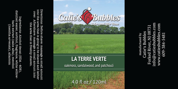 Catie's Bubbles La Terre Verte Before and After Shave