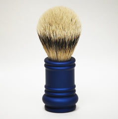 Merkur Silvertip Blue Barber Pole Brush