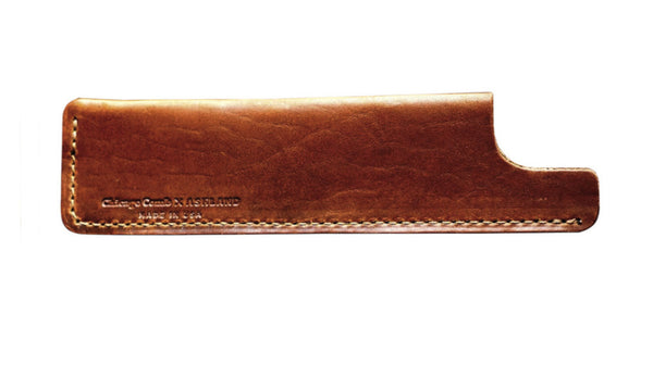 Chicago Comb Co. Tan Horween Leather Sheath