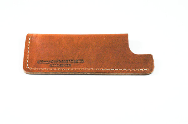 Chicago Comb Co. Tan Horween Leather Sheath Small