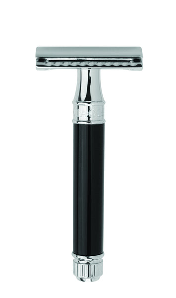 Edwin Jagger DE86 Black & Chrome Double Edge Safety Razor