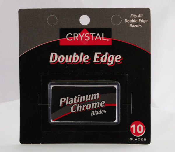 Crystal Platinum Chrome Double Edge Blades 10-Pack
