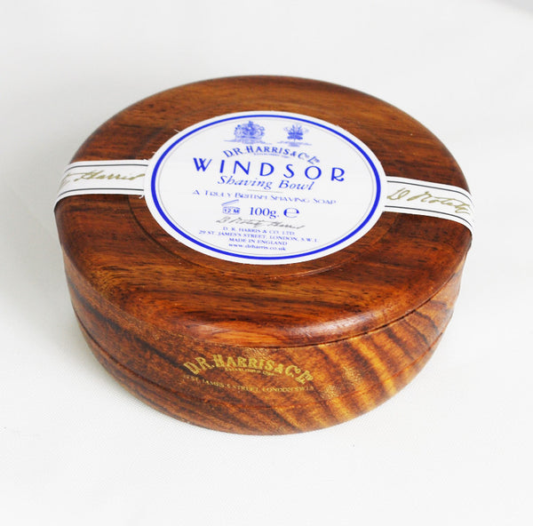 D.R. Harris Windsor Shave Soap in Mahogany Bowl