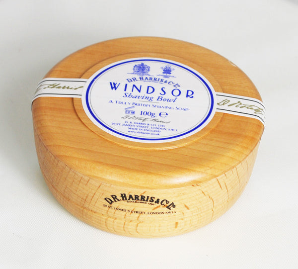 D.R. Harris Windsor Shave Soap in Beechwood Bowl