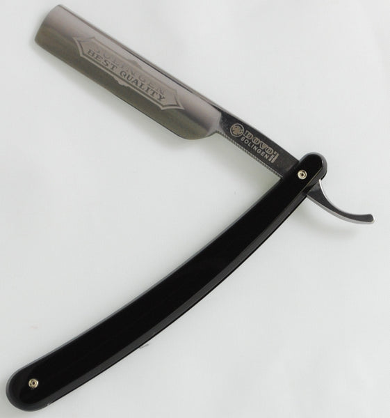 "Dovo Best Quality Black 5/8"" 1/2 Hollow Straight Razor Set"