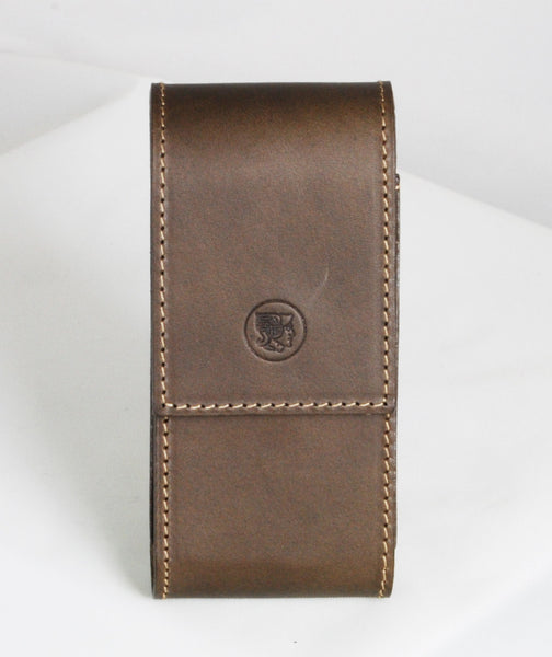 Dovo Brown Leather Safety Razor Case