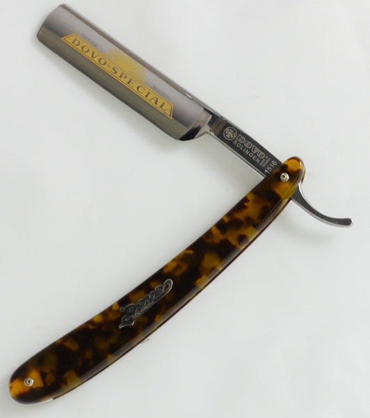 "Dovo Imitation Tortoise Shell 5/8"" Straight Razor & Strop Set"