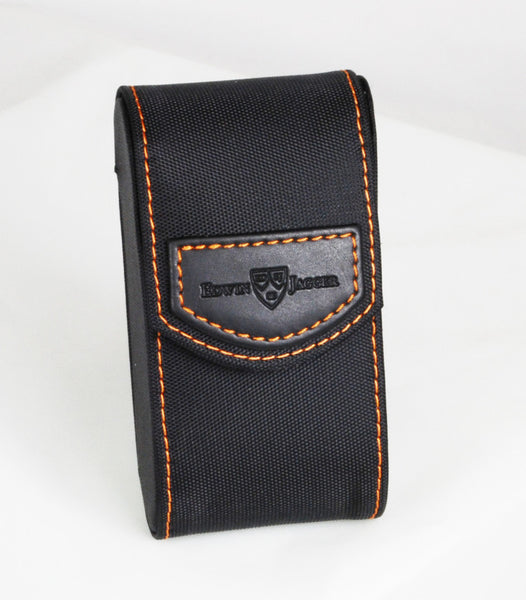 Edwin Jagger Black with Orange Stiching Double Edge Travel Case
