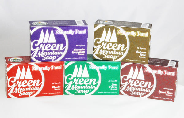 Green Mountain Soap Vegetable Formula Bar Soap - 5 Great Scents