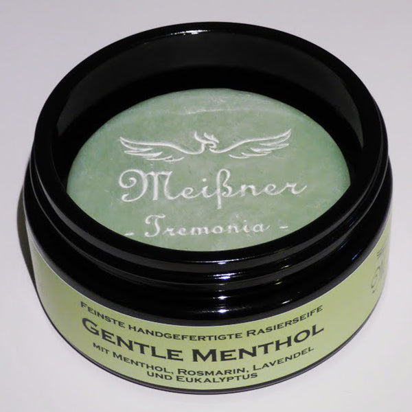 Meißner Tremonia Gentle Menthol Shaving Soap Glass Jar 95g