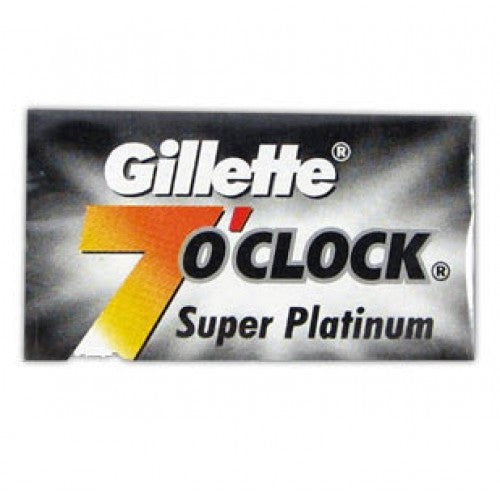 Gillette 7 O'Clock Super Platinum Double Edge Blades 5-Pack