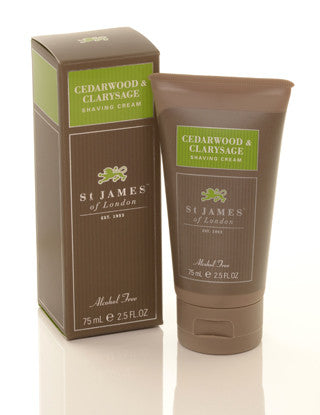 St James of London Cedarwood & Clarysage Shave Cream Tube