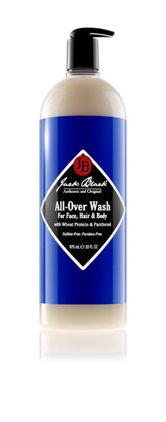 Jack Black All-Over Wash for Face, Hair & Body 33oz