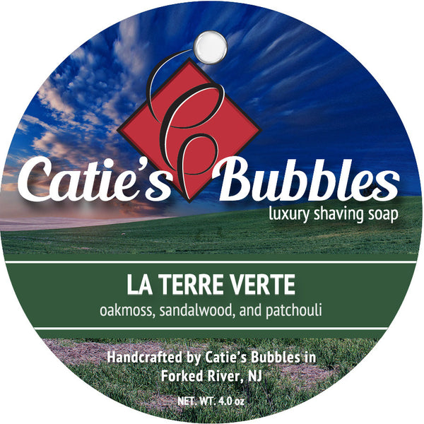 Catie's Bubbles La Terre Verte Luxury Shaving Soap 4oz