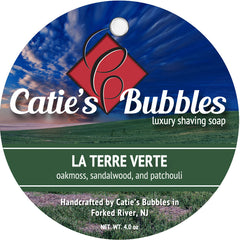 Catie's Bubbles La Terre Verte Luxury Shaving Soap 4oz - Straight Razor Designs