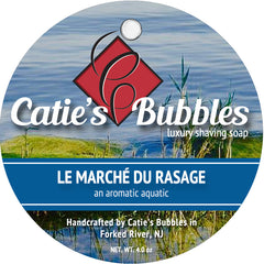 Catie's Bubbles Le Marche du Rasage Luxury Shaving Soap 4oz - Straight Razor Designs