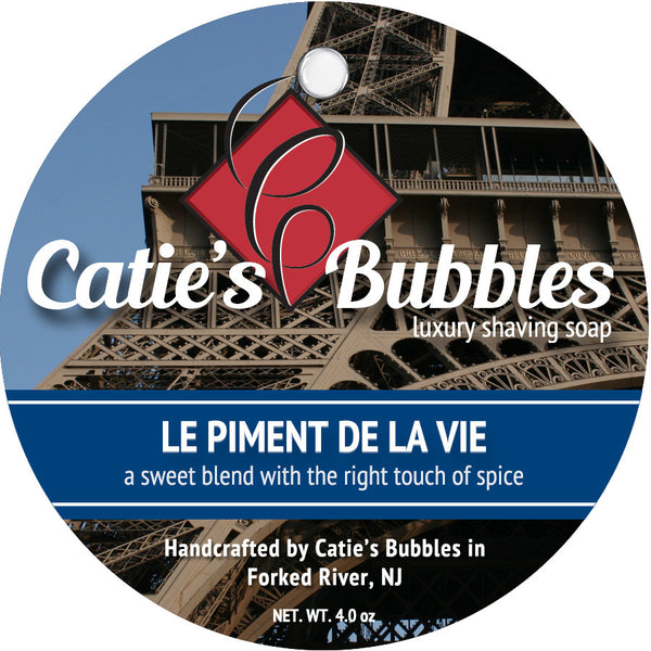 Catie's Bubbles Le Piment de la Vie Luxury Shaving Soap 4oz