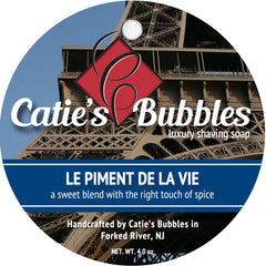 Catie's Bubbles Le Piment de la Vie Luxury Shaving Soap 4oz - Straight Razor Designs