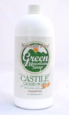 Green Mountain Soap Liquid Castile Olive Oil Pump Soap Refill