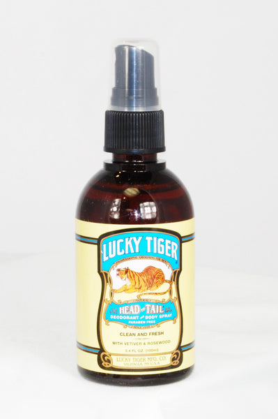 Lucky Tiger Head to Tail Deodorant & Body Spray