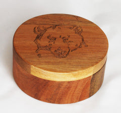 Mama Bear's Wooden Soap Dish With Lid - Straight Razor Designs