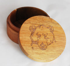 Mama Bear's Wooden Soap Dish With Lid