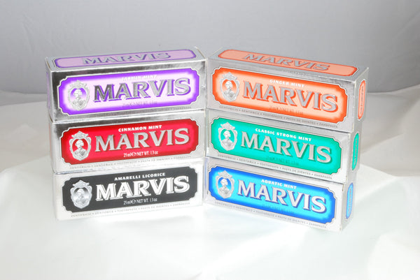 Marvis Toothpaste 6 Great Marvis Strong Flavors - Travel Size