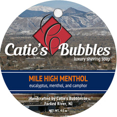 Catie's Bubbles Mile High Menthol Luxury Shaving Soap - Straight Razor Designs
