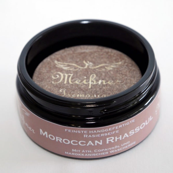 Meißner Tremonia Morroccan Rhassoul Shaving Soap Glass Jar 95g