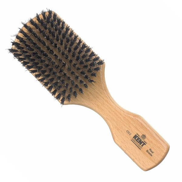 Kent Hair Brush OG2 Beechwood Pure Black Bristles